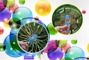 400 Pcs Funny Popular Soap Bubble Colorful Shook Stick Blowing Bubble Play Outdoor Activety Wands Toys Amused for Children Kid Baby