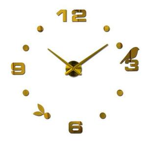 Nuevo envío libre caliente de cuarzo venta tranquilo reloj de pared interesante 3d diy decoración para el hogar relojes números romanos arte pegatinas solo