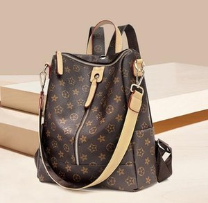 Hot designer ladies double zipper backpack commuter ladies print bag travel large capacity backpack student bag free shipping