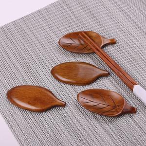 Forma de Folha De madeira oval Chopsticks Colher de Chá Colheres De Chá Titular Casa Restaurante Do Hotel Suprimentos de Cozinha 8.3 * 4 cm WX9-949