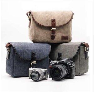 Cubierta de la caja del bolso de la cámara de fotos retro para Canon EOS 200D 77D 7D 80D 800D 1300D 6D 70D 760D 750D 700D 600D 100D 1200D 1100D SX540