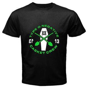 New Type O Negative * Casket Crew Rock Band Logo T-shirt nera da uomo Taglia S - 3xl Normale T-shirt a maniche corte in cotone