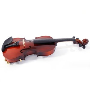 3 4 Acoustic Violin with Case Bow Rosin Strings Tuner Shoulder Rest Kit Natural for 4 Years Age