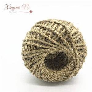 1 Roll 60M width 3mm High Quality Natural Brown Jute Rope Twine String Cord Shank Craft Making DIY Tag Label Hang Rope