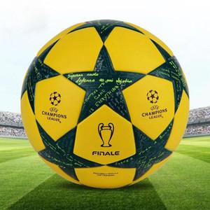 Bola de futebol oficial da Liga de Campeão de alta qualidade para o jogo profissional tamanho 5 treinamento futebol pu padrão bola de futebol frete grátis
