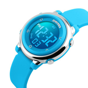 SKMEI Children watch LED Digital Sports Relojes Mujer Boys girls fashion Kids Cartoon Jelly Waterproof Relogio Feminino 2018