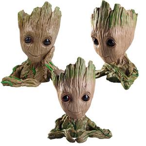 2018 Nouveaux Gardiens de la Galaxie Avengers Modèle Action Figure Toy Tree Man Stylo Flowerpot Macetero Vase Planteur Pot De Fleurs