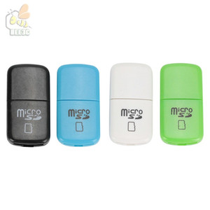 Fácil de llevar Mini USB Card Reader barato más barato USB 2.0 T-flash de memoria TFcard / lector de tarjetas micro SD, adaptador de tarjeta TF 100pcs