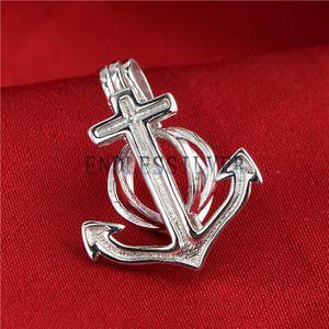 Wunsch Perle Anchor Cage Anhänger 925 Sterling Silber Geschenk Schmuck Medaillon Anhänger Montage für Perle Party