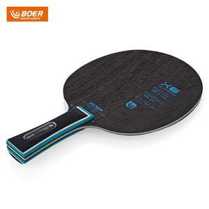 BOER X6 Ping Pong Raket Masa Tenisi Paddle Yarasa Uzun sap veya kısa sap Masa Tenisi Raketler Ping Pong Paddle Masa Tenisi Raket Set