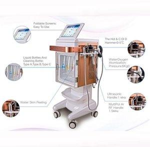 Máquina facial facial con inyección de oxígeno hidratante cutánea hidratada con chorro de oxígeno 5 en 1 hidróxido facial.