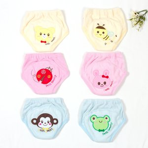 Baby diapers reusable practice pants animal embroidery baby learning pants children baby cotton washable wear urinary underwear training pan