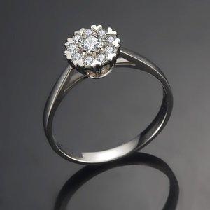 ZHF bijoux bagues de mariage en diamant simulé pour les femmes brillent bague de diamant croix bandes de mariage en or blanc