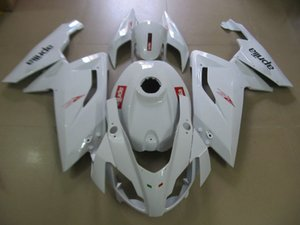 حقن طقم طقم جسم السيارة ل Aprilia RS125 06 07 10 11 RS 125 2006 2010 2011 ABS white Fairings bodywork + gifts AB01