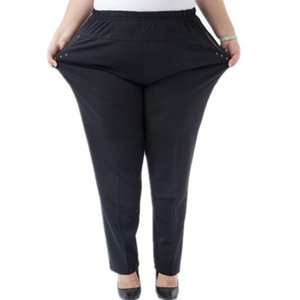 Clobee Pantalones de Mujer 2017 Más el Tamaño 6XL Mediana Edad de la Mujer Espesar Invierno Capris Pantalones de Cintura Alta Más Terciopelo Pantalones Calientes J261