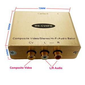 صوت ستيريو فيديو Balun RCA AV Balun انالوج RCA موسع على cat5e / 6 (زوج واحد)