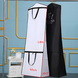 2018 Two Style Use Wedding Dress Gown Bag Garment Cover Travel Storage Dust Covers Bridal Accessories For Bride Clear Dust Bags Cheap Pric