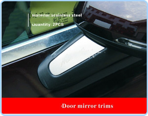 Yüksek kalite paslanmaz çelik 2 adet yan kapı ayna düzeltir, pillar parlak wisp, madeni pul Porsche macan 2014-2017