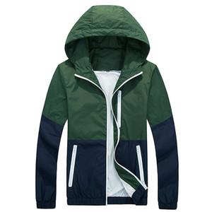 남성용 자켓 Titmsny 패션 봄과 가을 고품질 재킷 코트 남성 인과 원인 후드 얇은 윈드 브레이커 지퍼 outwear