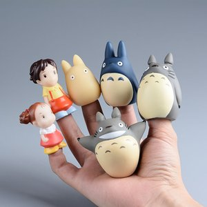 Novo Design Totoro Action Figure Kids Toys Studio Ghibli Miyazaki Hayao Anime Pvc Mini Set Fantoches de Dedo Brinquedo Figuras Crianças Boneca