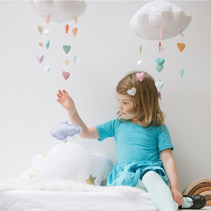 Cute Cloud Love Drop Shape Hangings Decoration Colorful For Baby Bed Room Hanging Decor Party Christmas Hanging Ornament Supply