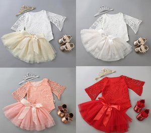 Baby Pincess Tutu Röcke Strampler Baby Mädchen Strampler Tutu Dress Romper + Tutu Rock + Schuhe + Kopfbedeckungen