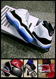 2018 Vente en gros Concord 11 Bred Win Comme 82 Mike Space Jam 11 Midnight Navy Blue Gagnez Comme 96 Gym Red Basket chaussures