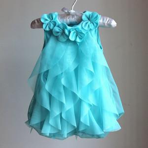 Chicas encantadoras vestido de princesa Vestido de fiesta de gasa de verano Bebé falda Fiesta infantil Vestido de cumpleaños Ropa de niña bebé Vestidos de encaje