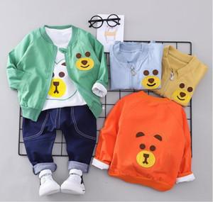 2018 yeni ilkbahar ve sonbahar çocuk giyim seti küçük çocuk erkekler ve kadınlar bebek üç parçalı çocuk suit