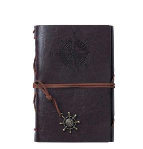 A5 Spiralschule Notebook Traveler Journal Tagebuch Buch Vintage Piraten Anker Pu Leder Notizbuch Rindsleder Papier noepads Weihnachtsgeschenk