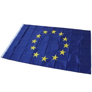 90 x 150 cm - Drapeau de l'Union européenne - Grande cour intérieure, drapeaux de l'Union européenne, polyester suspendu au drapeau européen