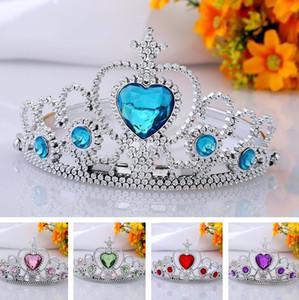 Yüksek kaliteli çocuk taç Prenses headdress bandı plastik saç çember taç saç aksesuarları 300 adet / grup T2I020