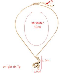 2018 neue Goldfarbe Metall Zink Legierung Schlange Charm Anhänger Halskette 40cm Kette Choker Halskette Frauen Mann Modeschmuck