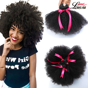 8A Visón Peruano Afro Kinky Curly Hair Wave 3 Paquetes Peruano virgen Afro Kinky Extensiones de Cabello Humano Rizado peruano Afro Kinky Virgin Hair