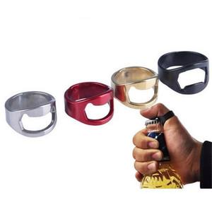 Палец Кольцо Открывалка Для Бутылок Из Нержавеющей Стали Пиво Открывалка Кольца Открывалка Черный Серебристый Красный Золото Открывалки 22 мм Бесплатная доставка