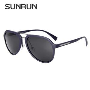 Atacado Piloto Do Vintage Polarizada Óculos De Sol Da Marca Designer Homens TR90 Quadro Óculos De Sol Moda Eyewear Proteção UV400 18017