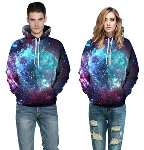 2017 autumn and winter new Style Fantasy Galaxy Unisex Realistic 3d Digital Pullover Sweatshirt Hot Sale Hoodie Hooded Sweatshirt