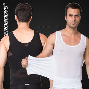Puissant Hommes Body Shaper Haut Powernet Gilet M L XL Noir Blanc Corps Ceintures Hommes Taille Cincher Forme Porter