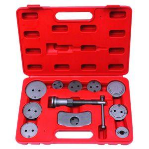 Longfeng LFCP8 12pcs disco de pinza de freno de pistón del coche del cojín del viento Volver Kit de herramientas con el caso