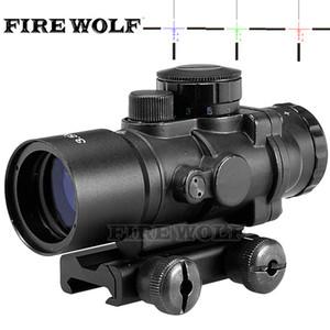 사냥 Riflescope 전술 3.5X30 RGB 레이저 시력 도트 레드 트라이 - 조명 콤보 컴팩트 범위 섬유 광학 녹색 시력