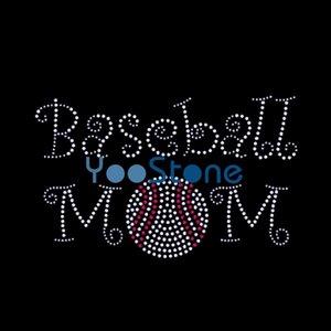 Бейсбол мама горный хрусталь теплопередачи Hot Fix аппликация