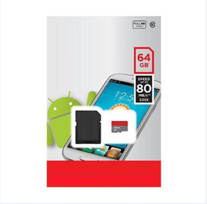 2020 Class 10 32GB 64gb 128gb 256GB 200G TF Memory Card Free SD Adapter Blister Retail Blister Packaging Android Robot C10 100mbps White A1