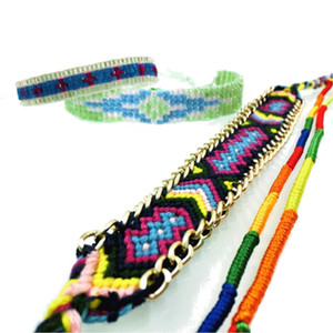 AMIU Jewelry Bohemian 5PCS Weave Cotton Seed  Bracelet Woven Rope String Handmade Bracelets Packing Sets For Women Men HH6