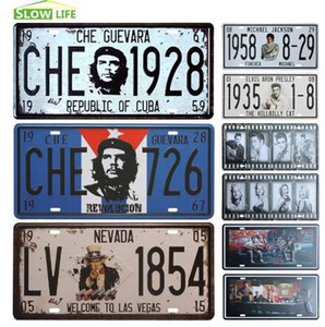 Che Guevara Voiture Plaque D'immatriculation En Métal Vintage Décor À La Maison Tin Sign Bar Pub Café Garage Décoratif En Métal Signe Art Peinture Plaque