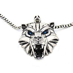 10pcs / lot monstro Witcher Escola Urso Medallion Cosplay caça selvagem jogo Pingente cor de ouro animais Skellige urso colar de cabeça Witcher N0004