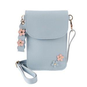 3d flores mujeres monedero multifunción monedero del teléfono mini bolsas de hombro chica joven monedero para iphone x 7 8 6 5 4 bolsas de teléfono 6 pulgadas