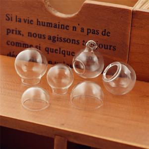 15-30mm vetro vuoto palla rotonda cupola di vetro a bolle con foro orbs gioielli risultati di vetro medaglione dimensioni diverse