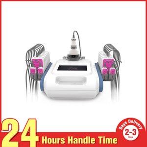 Etkili Yağ Azaltma Sağlık 40 K + RF Kavitasyon Ultrason RF Lipo Lazer Lypolysis HBB 160 mw Zayıflama Sistemi 12 Büyük + 4 Küçük Pedleri