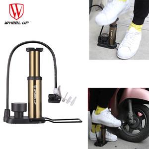 Колесо вверх Портативный мини велосипед насос сверхлегкий велосипед шланг с манометром 120 фунтов на квадратный дюйм высокого давления велосипедов аксессуары