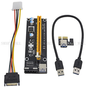 Cavo prolunga USB 3.0 PCI-E PCIe PCI Express da 60 a PCIe da 1x a 16x con alimentatore Molex IDE da Sata a 4 pin per BTC Miner RIG VER 006